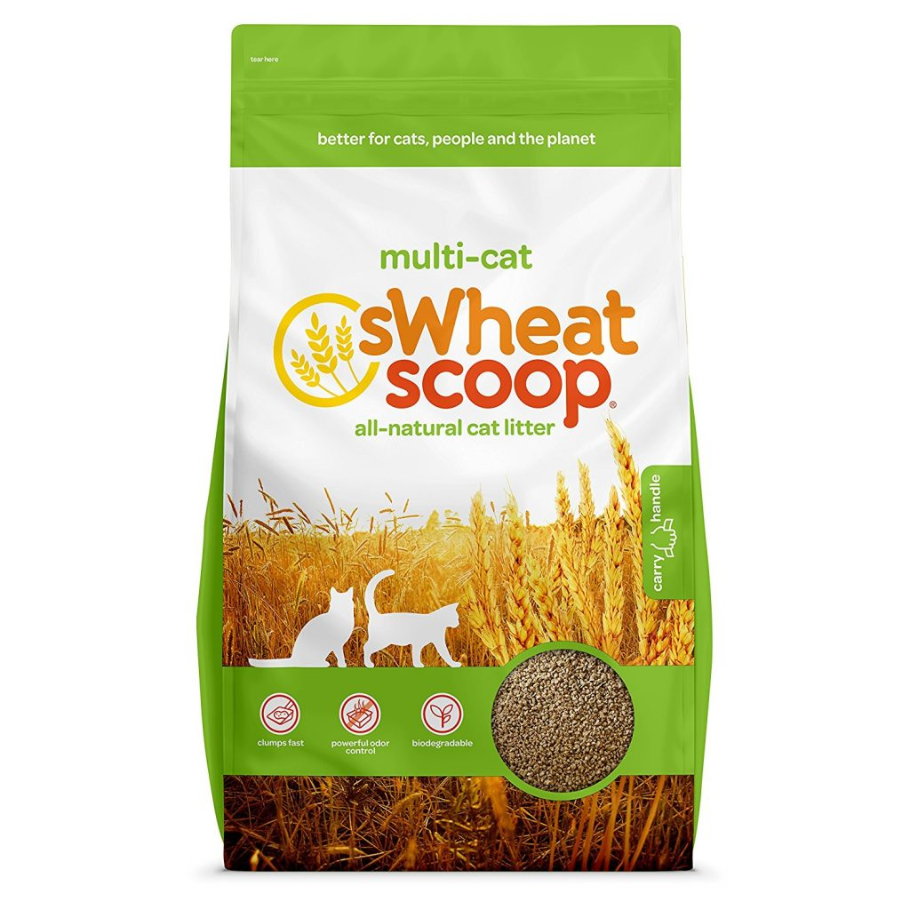sWheat Scoop Clumping Cat Litter, Multi-Cat, All-Natural Clumping Litter