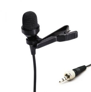 Pro Lavalier Lapel Microphone with Wireless Transmitter