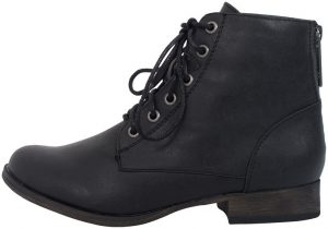 Breckelles Women's Leather Combat Boot