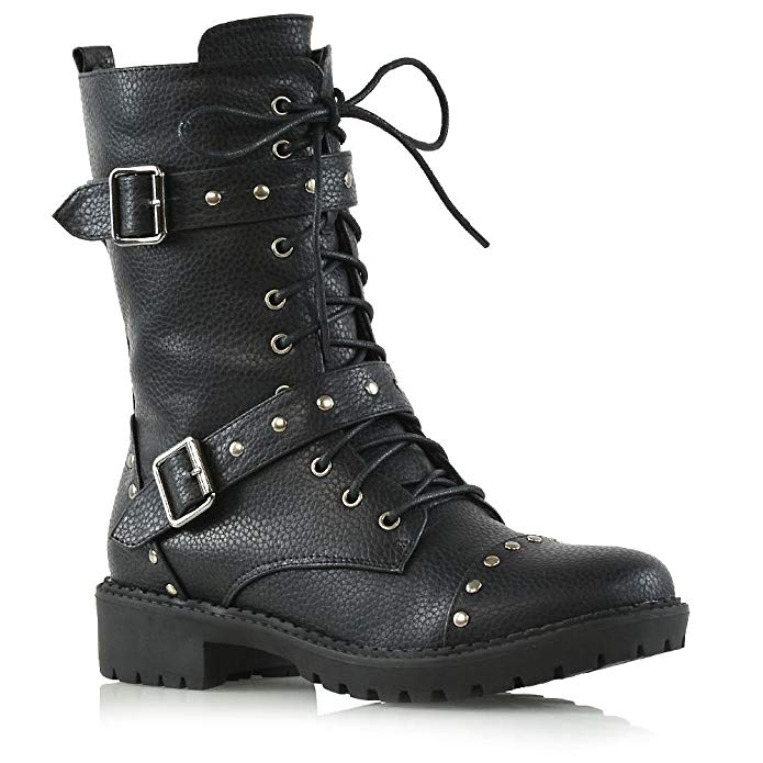Essex Glam Strappy Combat Boots