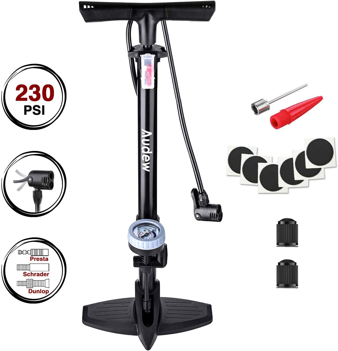Audew Bicycle Floor Pump
