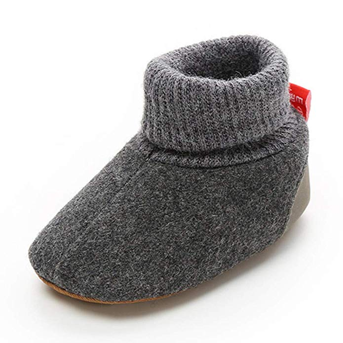 TIMATEGO Newborn Fleece Booties