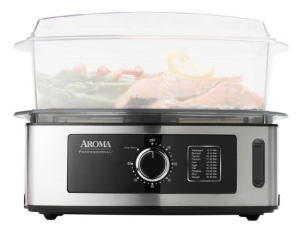 Aroma Professional 5-Quart Food Steamer, Stainless Steel