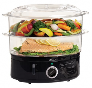 BELLA 13872 Food Steamer, Black