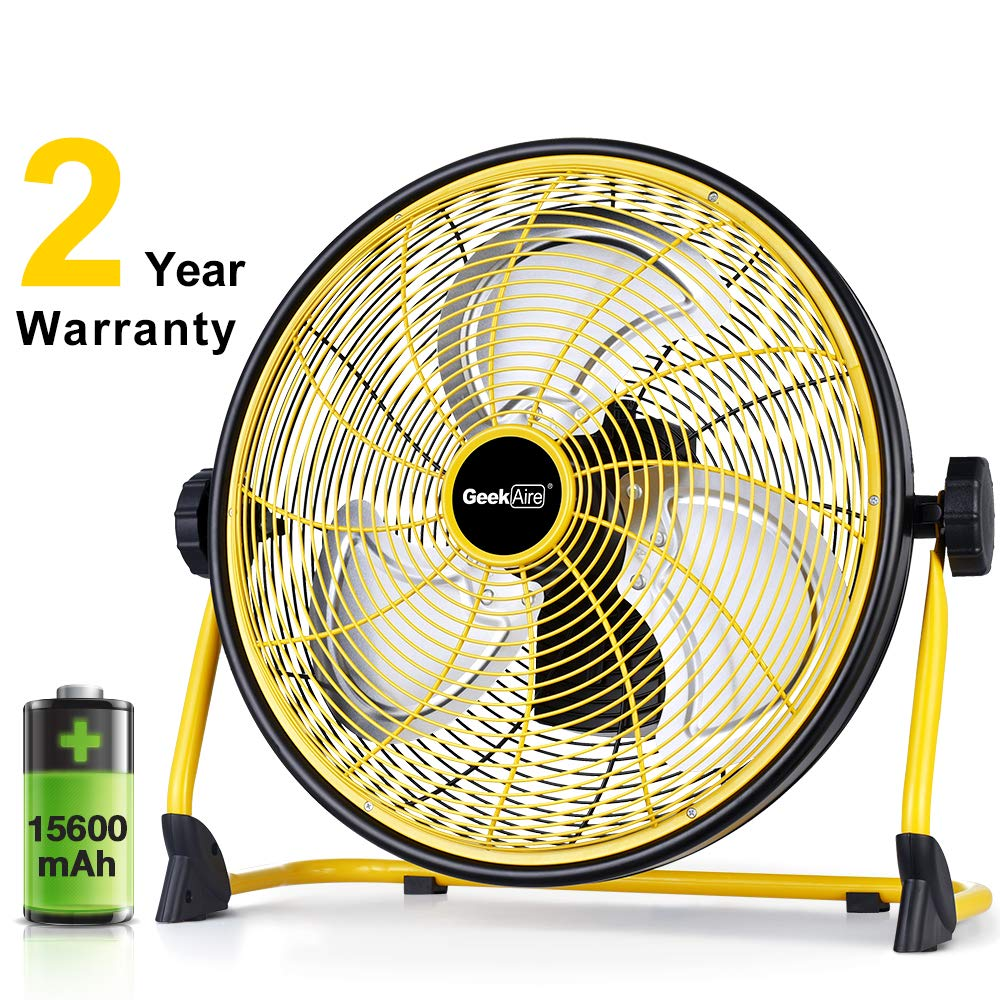 GeekAire Rechargeable High-Velocity Floor Fan