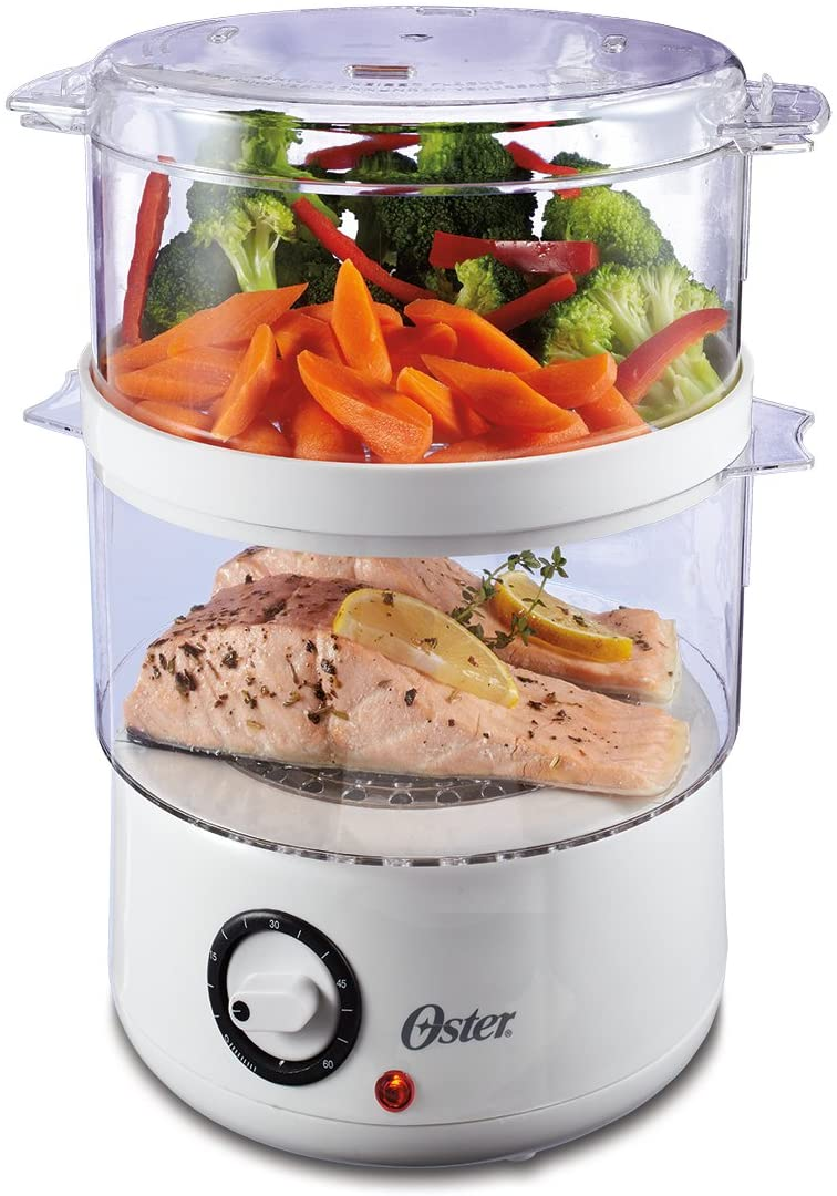 Oster (CKSTSTMD5) Double Tiered 5 Qt Food Steamer