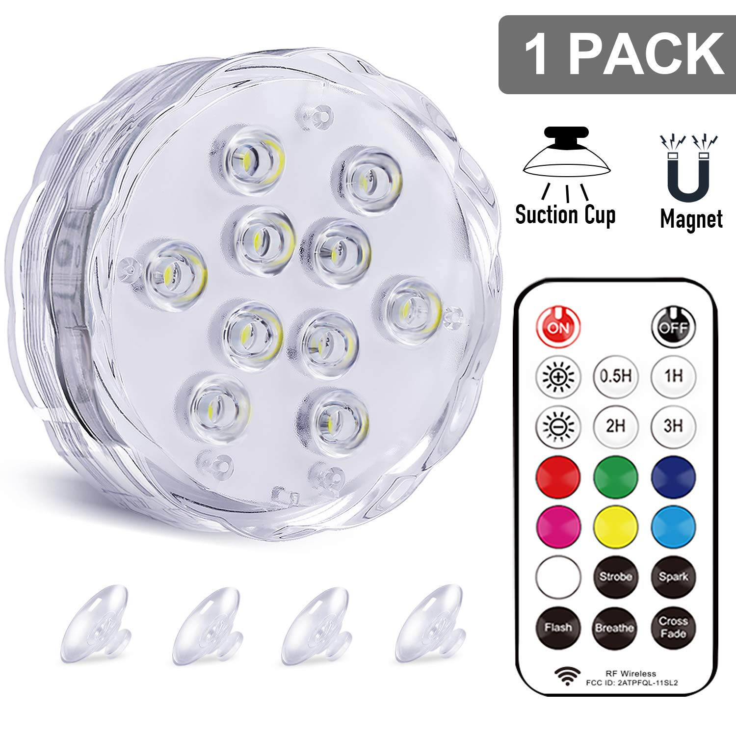 Qoolife RGBW Underwater LED Lights