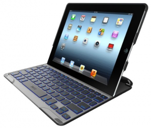ZAGG PROfolio+ Ultrathin Case with Backlit Bluetooth Keyboard for iPad 2 3 4-Black