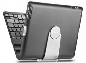 iPad case, iPad keyboard case, New Trent Airbender 1.0 Wireless Bluetooth Clamshell iPad Keyboard