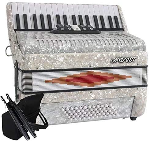 Aidust Accordion Piano 60Bass 34-Key (white)