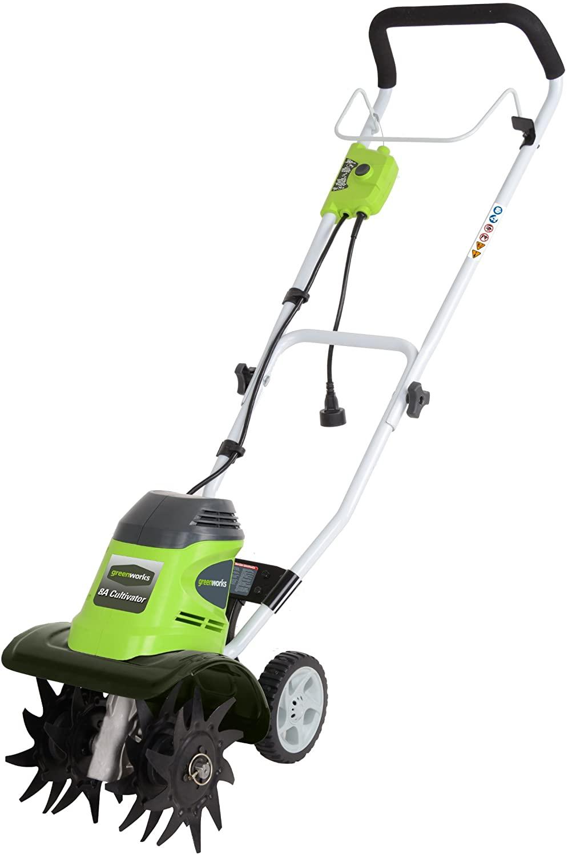 Greenworks 27072-Corded Electric Tiller
