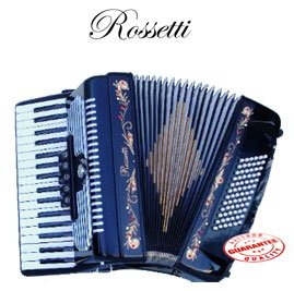 Rosetti Piano Accordion with 5 Switches