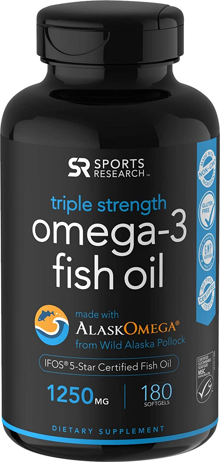 Alaskan Omega 3 Fish Oil Concentrate from Sports Research