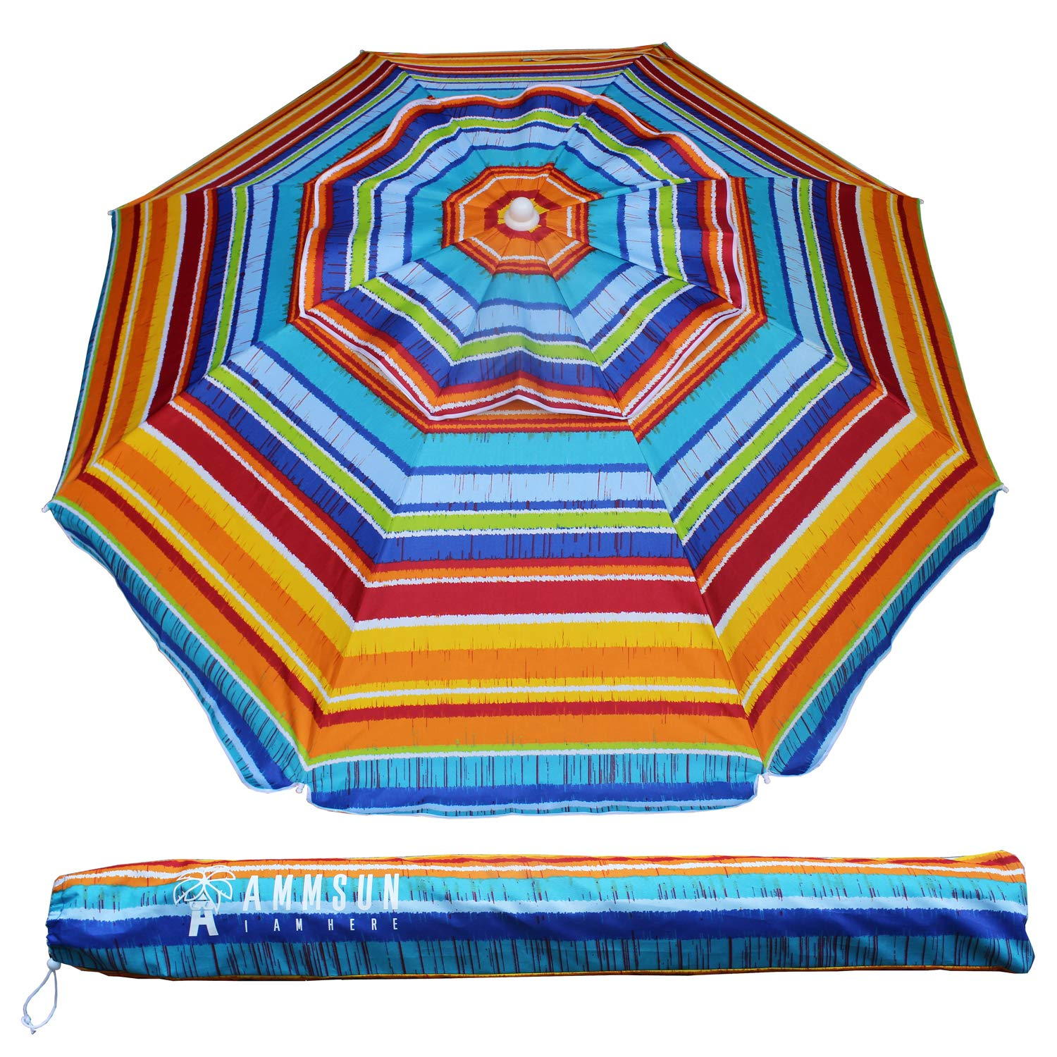 Ammsun 6.5 Ft Outdoor Patio Beach Umbrella