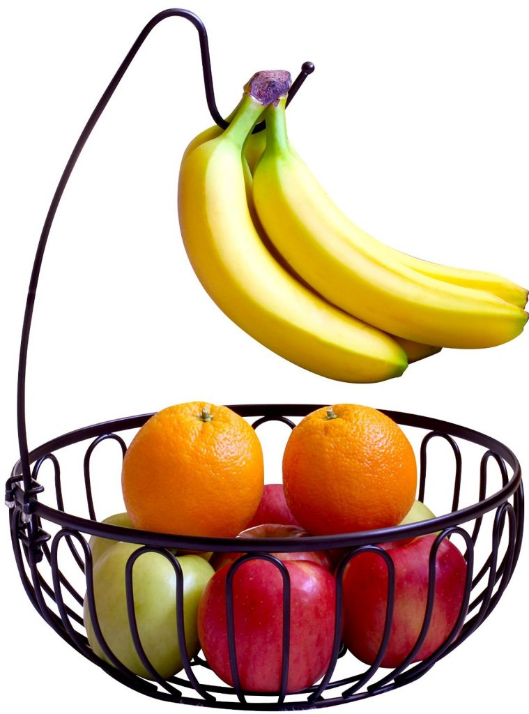 DecoBros Wire Fruit Tree Bowl with Banana Hanger, Bronze (1066)