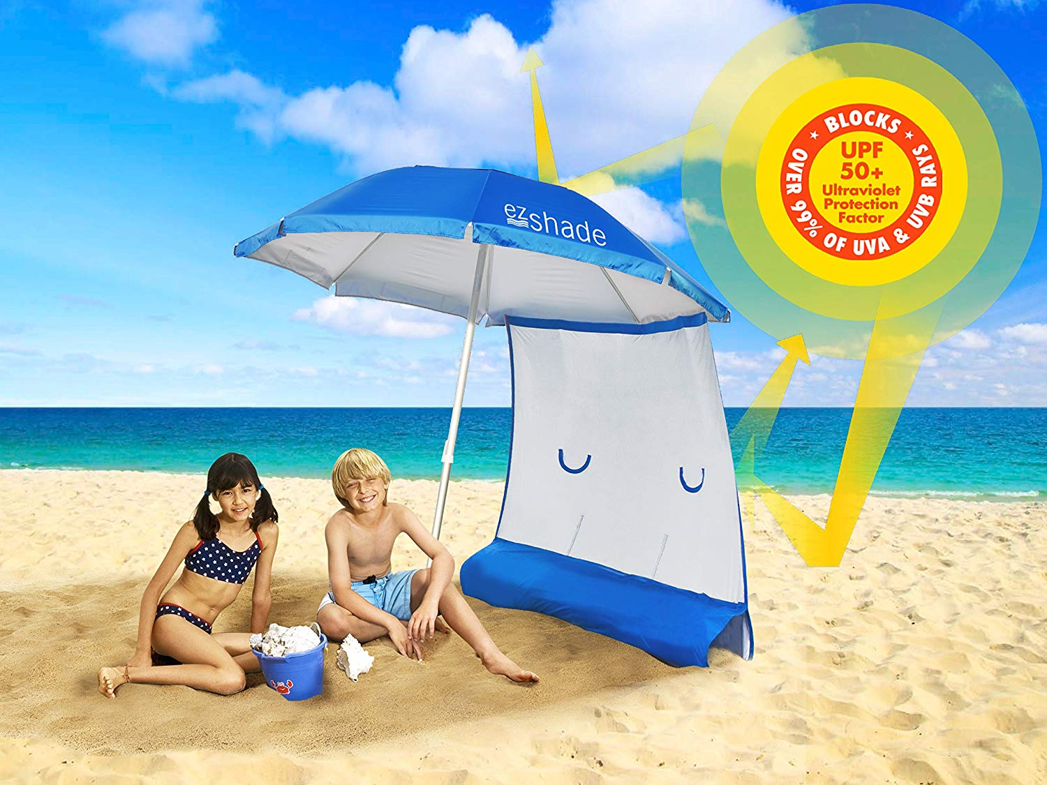 EzShade Superior Sun Protection Beach Umbrella