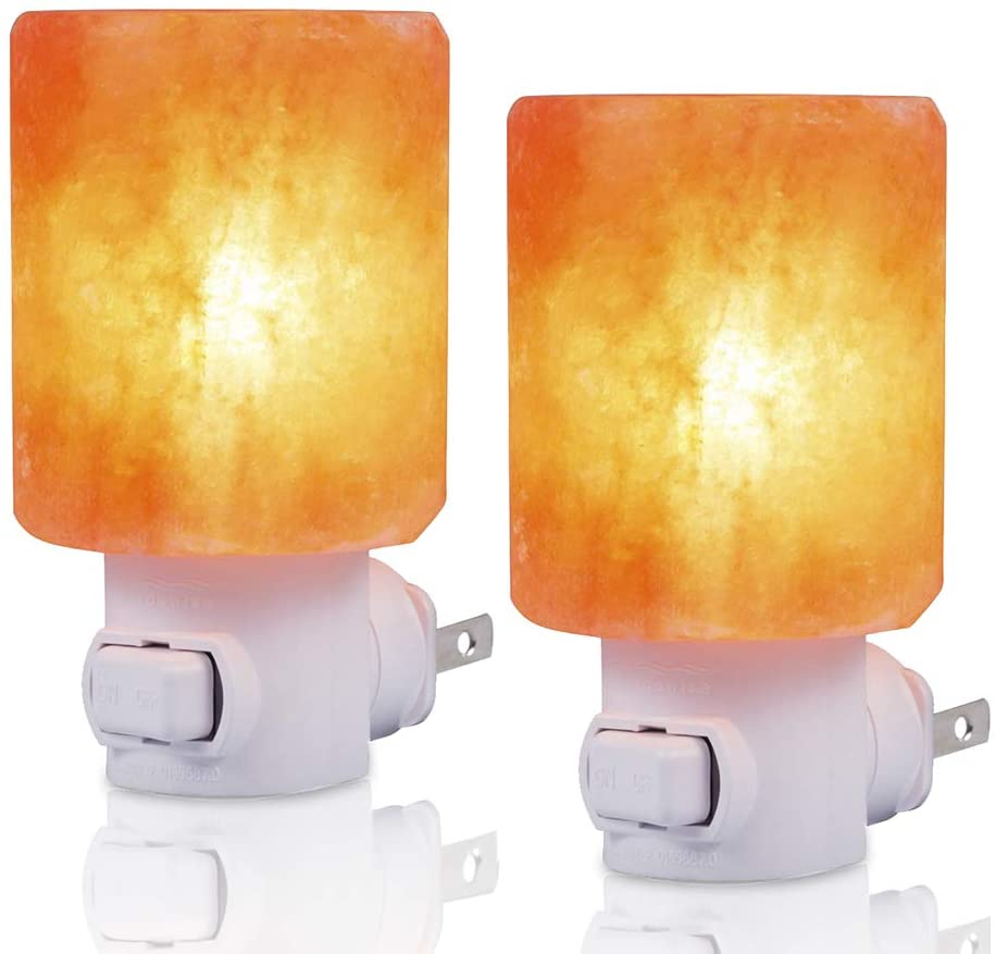 SMAGREHO Night Light 2 Pack Himalayan Salt Lamp