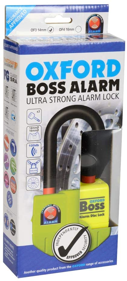 Oxford OF3 Boss Alarm Disc Lock with 100dB Audible Warning