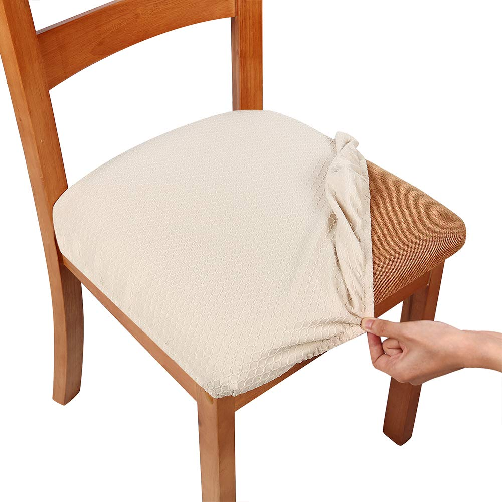 Smiry Stretch Spandex Jacquard Chair Seat Covers