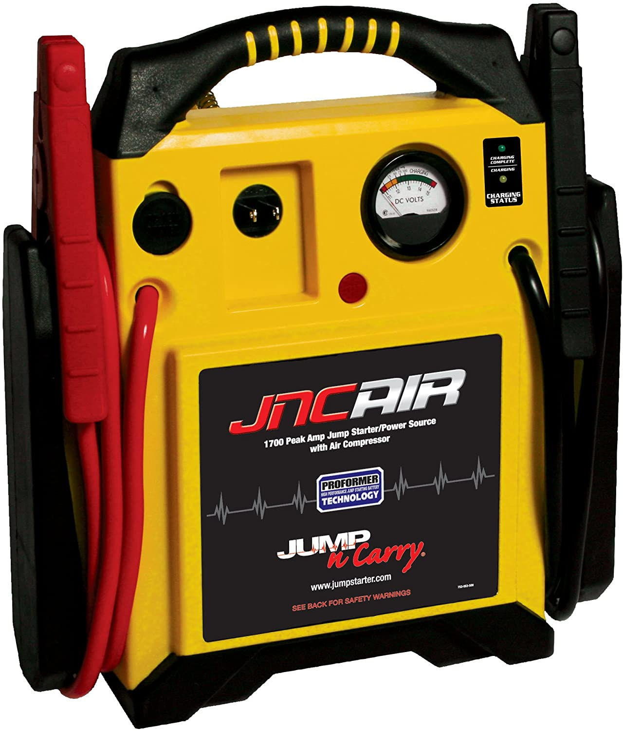Clore Automotive JNCAIR 1700 Peak Jump-N-Carry Jump Starter