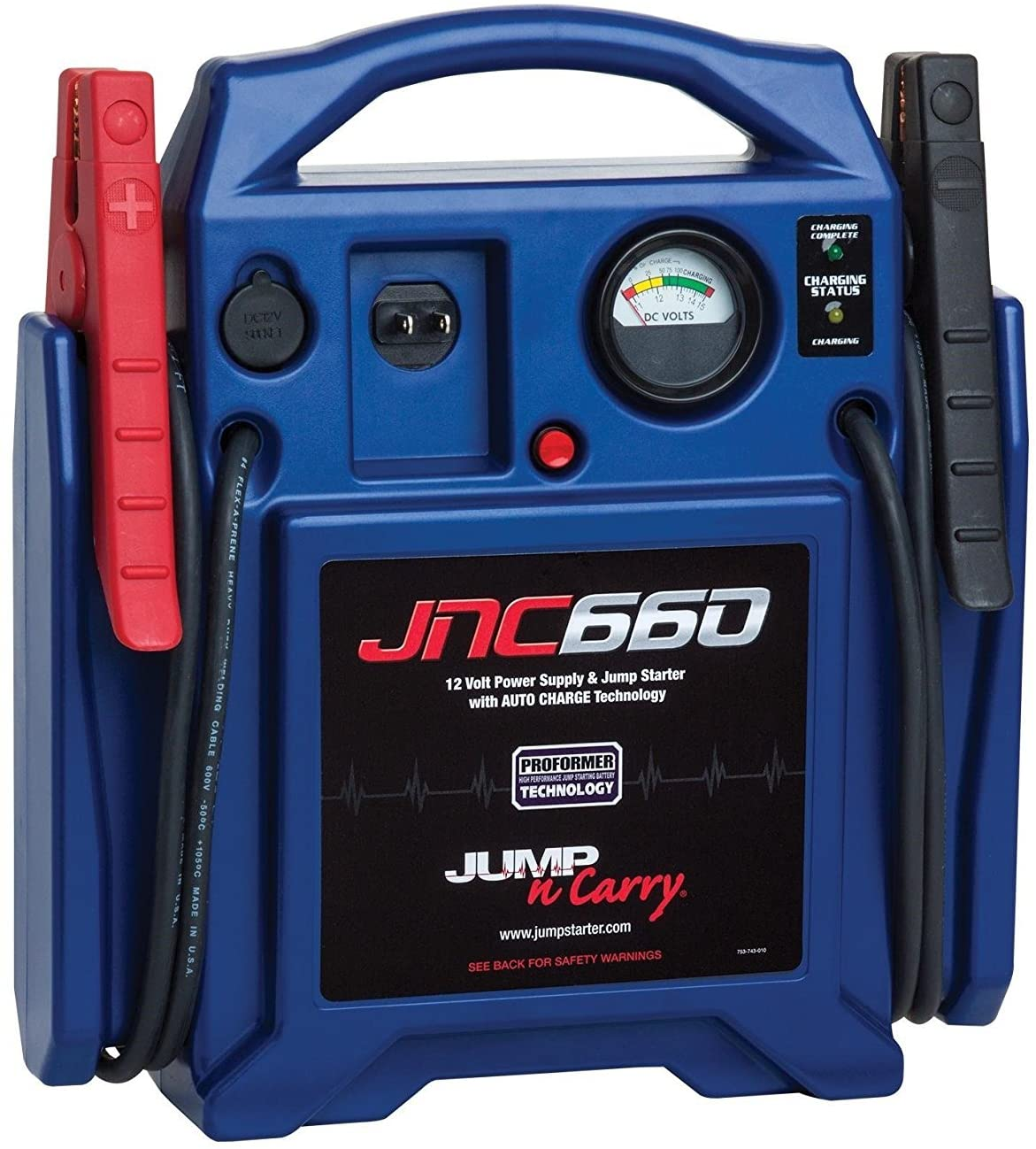 Clore Automotive Jump-N-Carry JNC660 1700 Peak car Jump Starter
