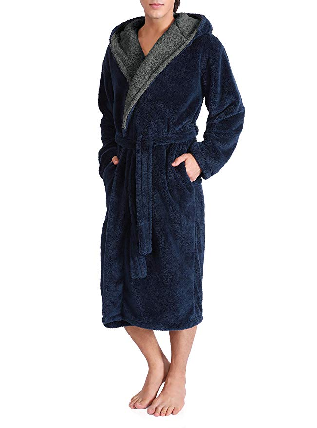 DAVID ARCHY Men's Bathrobe
