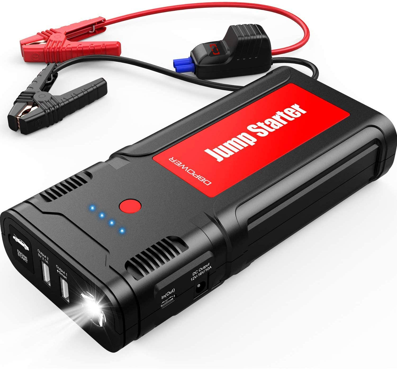 DBPOWER Portable 21800mAh 2500A Car Jump Starter