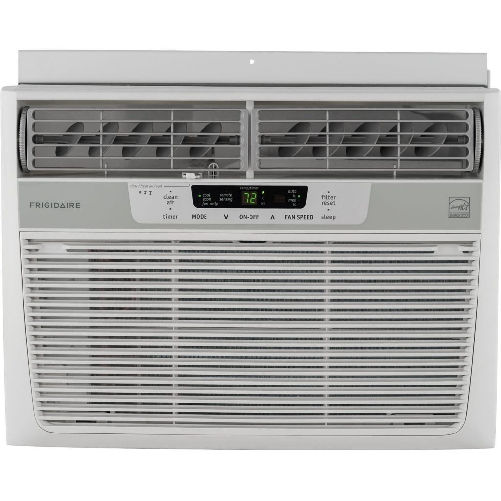 Frigidaire 10,000 Btu Window-Mounted Air Conditioner, Compact, 115v With Temperature-Sensing Remote Control