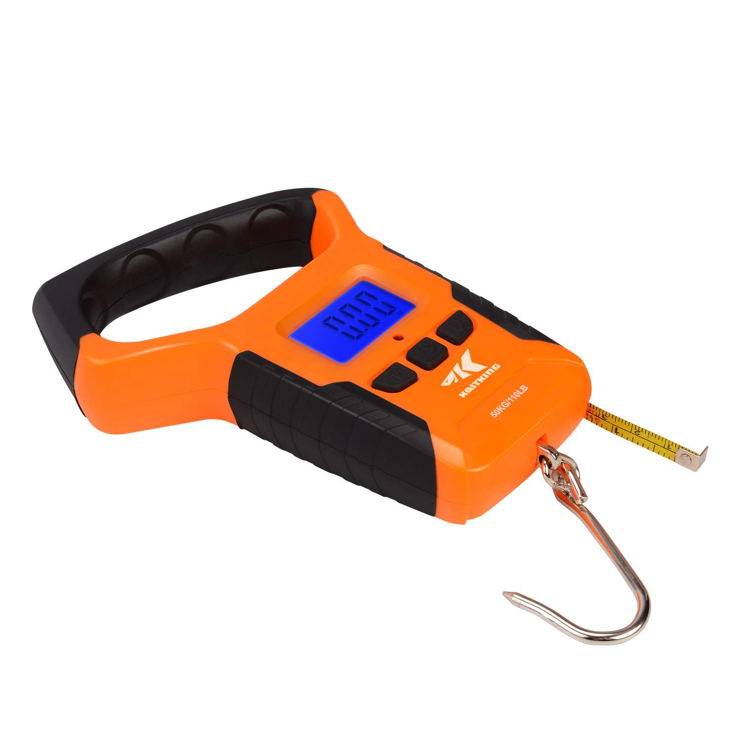 Weston Spring and Hook Scale 50 lb Anodized Aluminum Non Slip Grip Patented