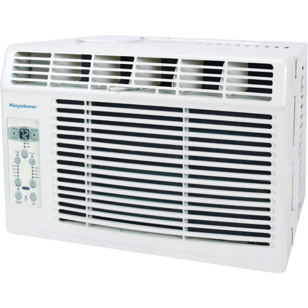 Keystone Window-Mounted Air Conditioner, 5,000 BTU 115V, LCD Remote Control