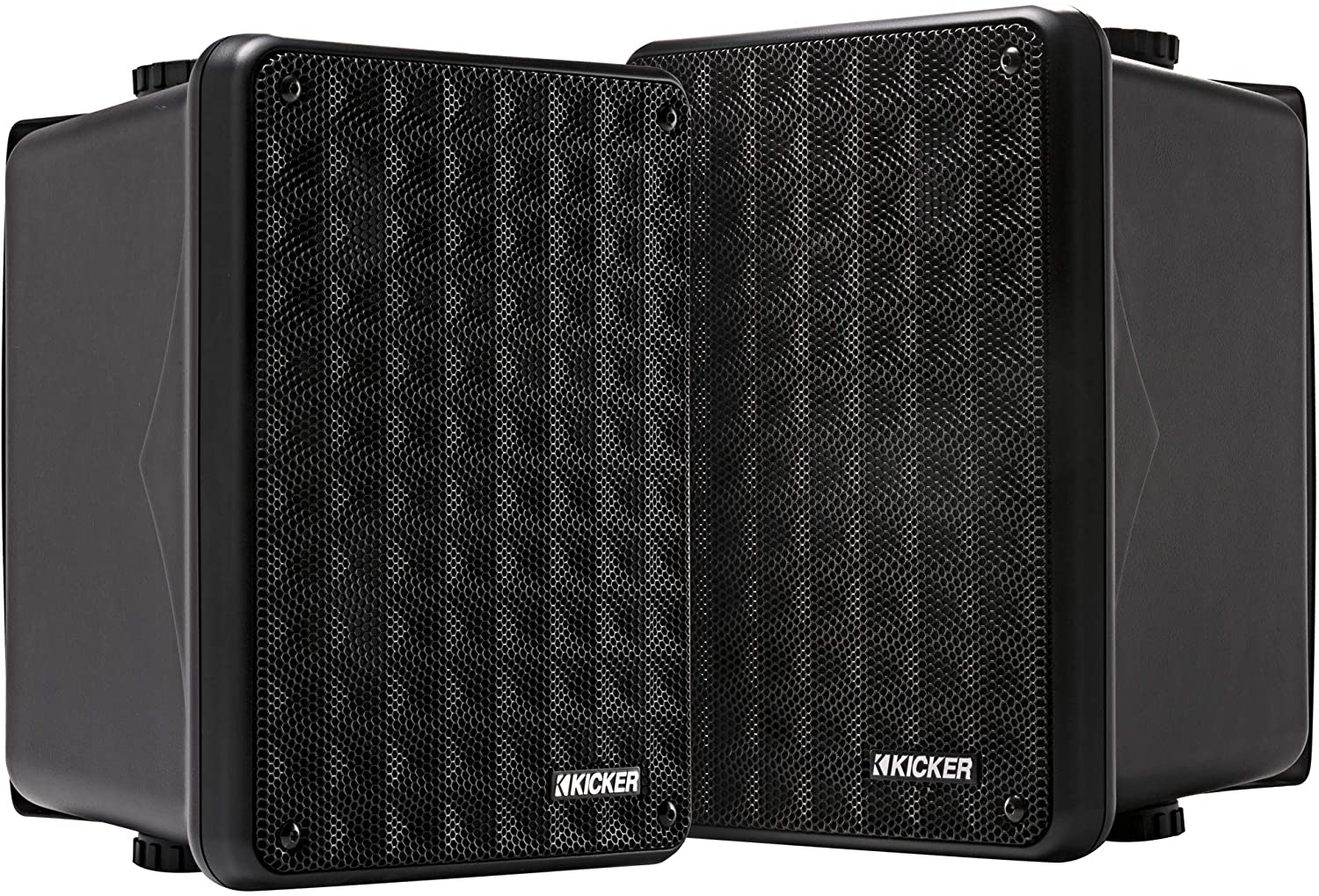 Kicker KB6 2-Way Full-Range Indoor Outdoor Speakers