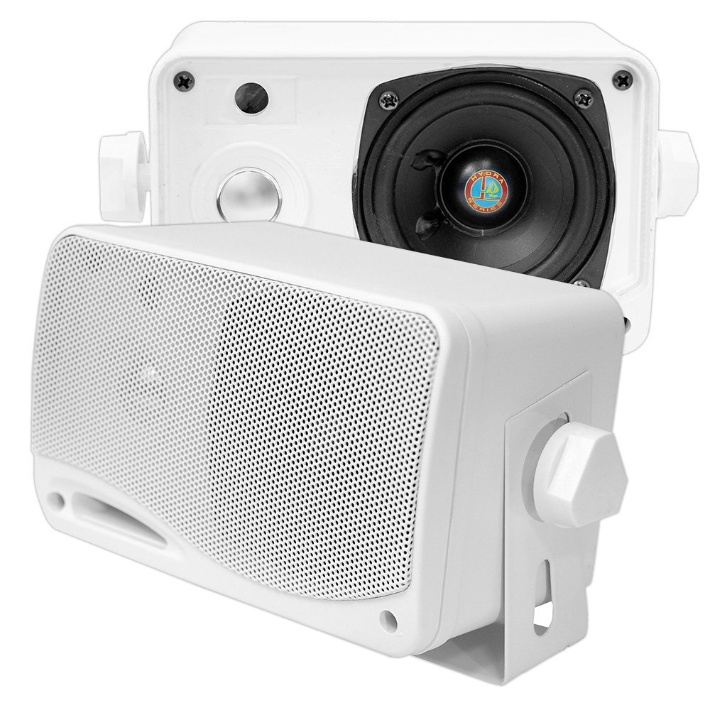PYLE PLMR24 3.5'' 200 W 3-Way Weather Proof Outdoor Speaker