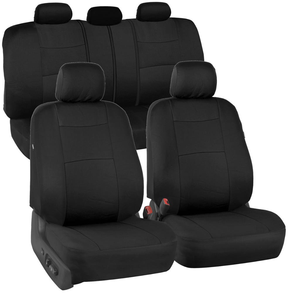 Poly Cloth Black Car Seat Covers