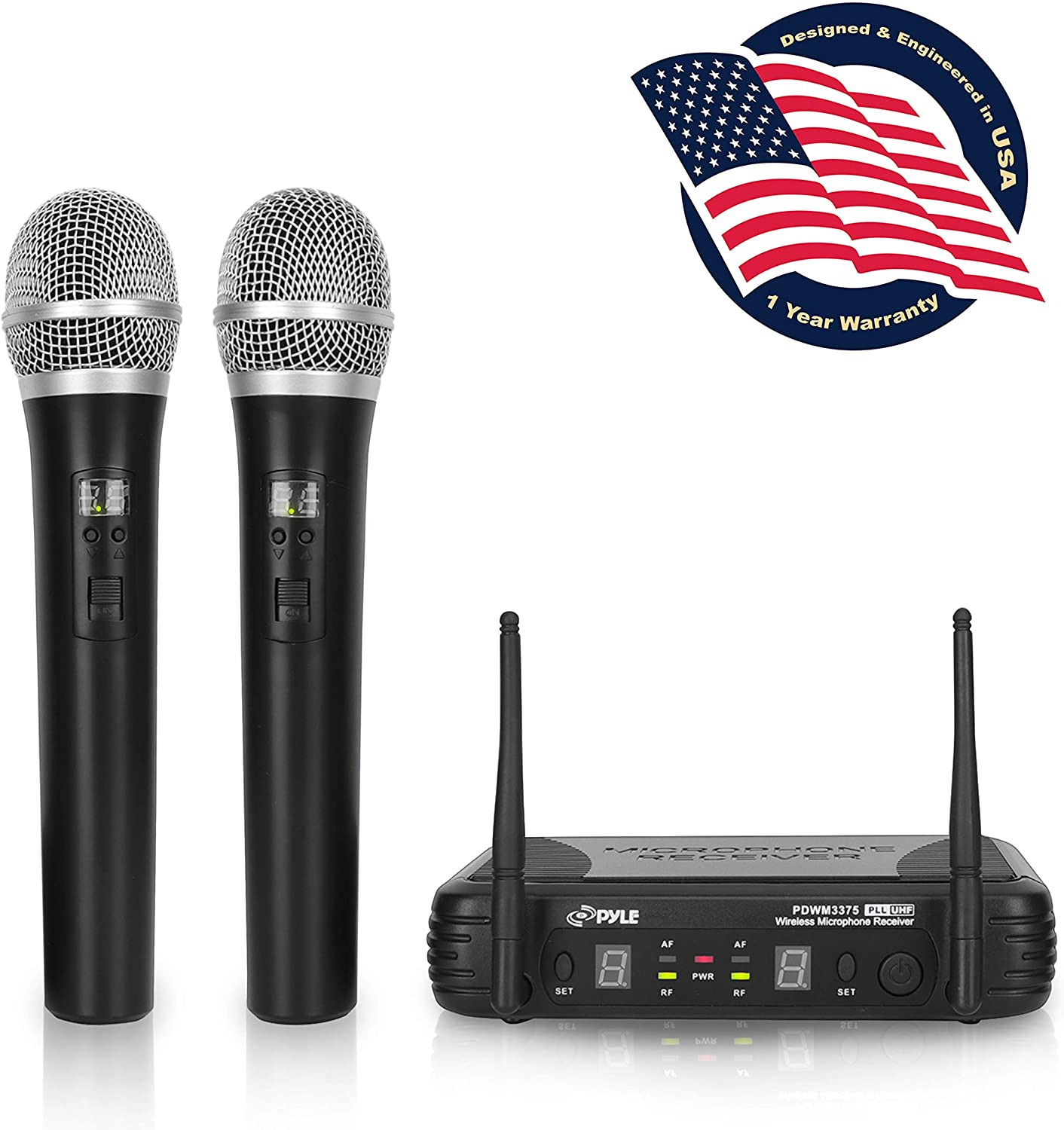 Pyle PBWM3375 Professional Wireless Microphone