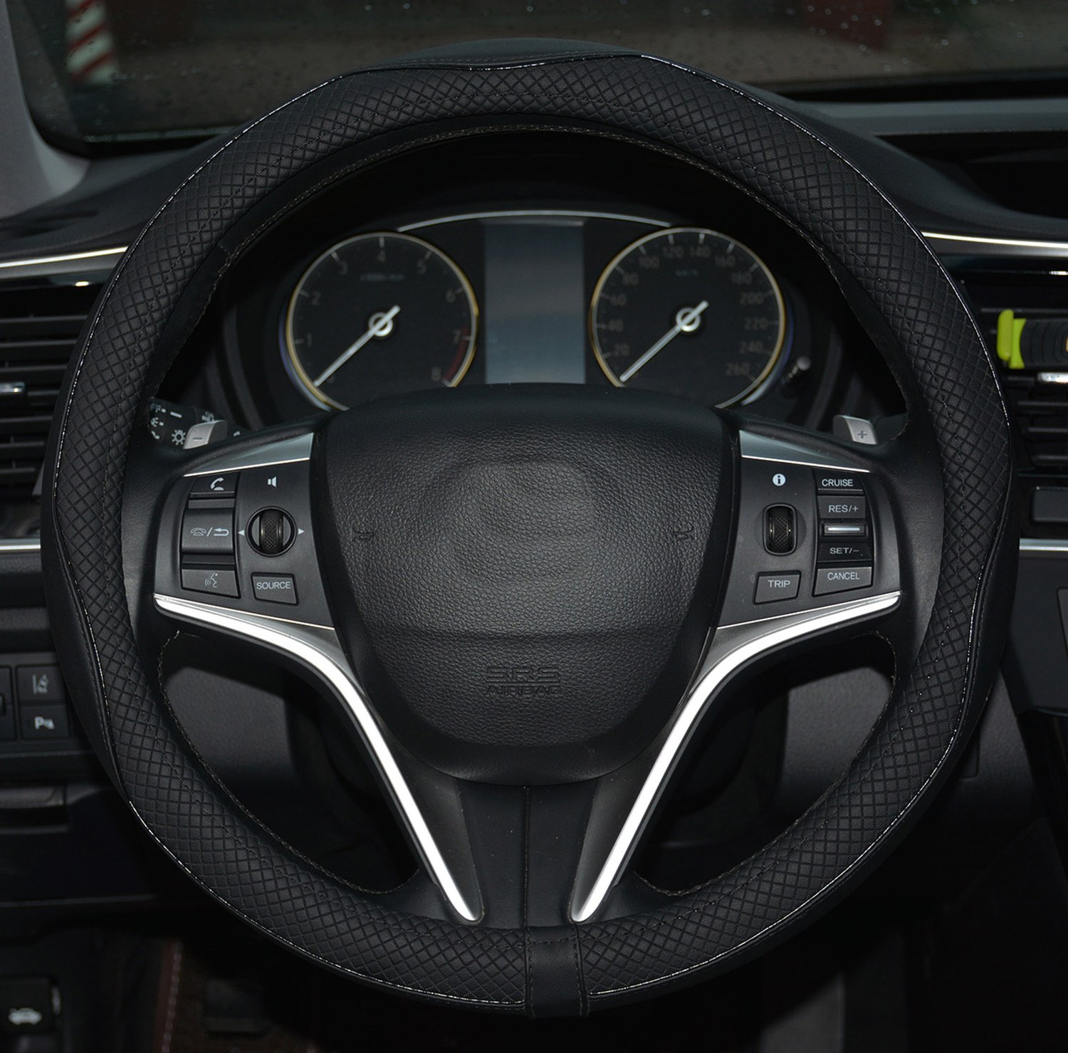 Rueesh Microfiber Leather Steering Wheel Cover
