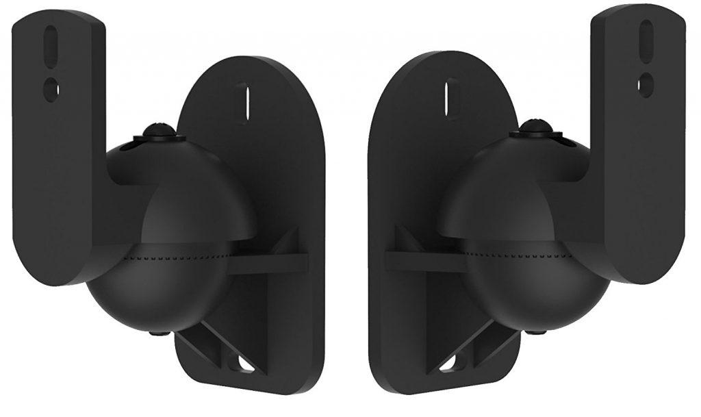 VonHaus Universal Speaker Mount Brackets Threaded Fitting, Adjustable