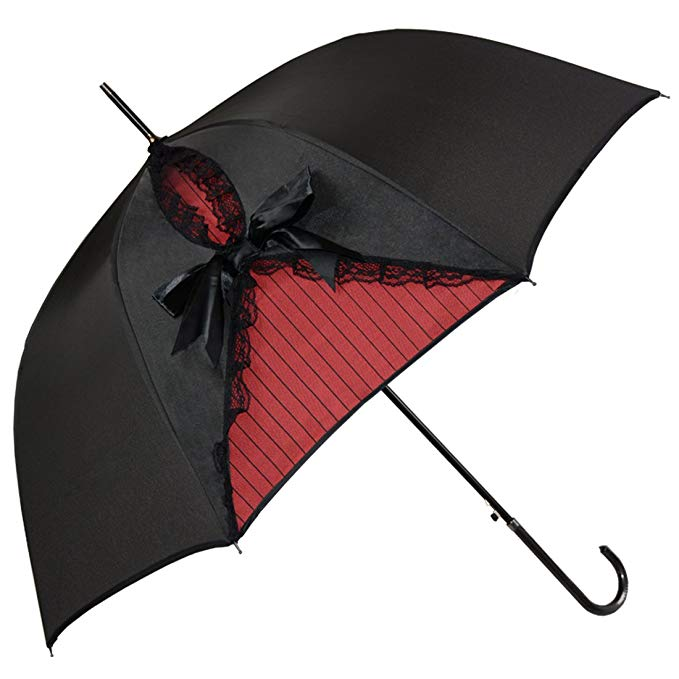 Kung Fu Smith Black Lace Parasol Umbrella