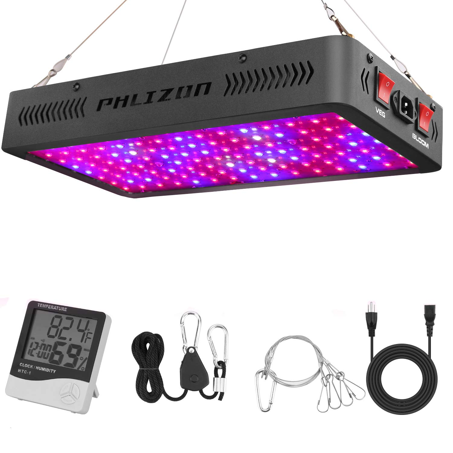 Phlizon Newest LED Plant Grow Lamp