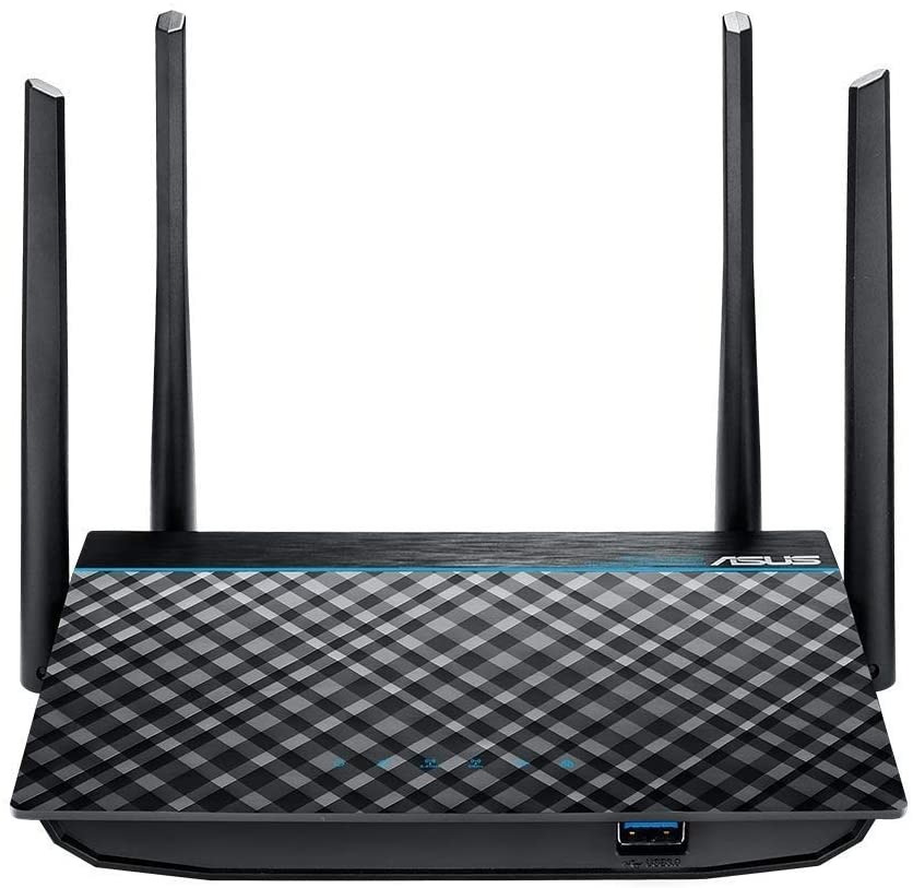 ASUS Dual-Band 2x2 AC1300 Super-Fast Wi-Fi 4-Port Gigabit Router