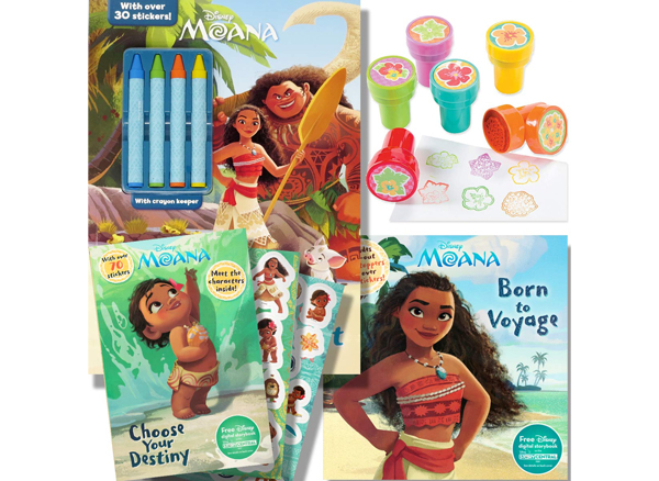 Moana boat drawing book