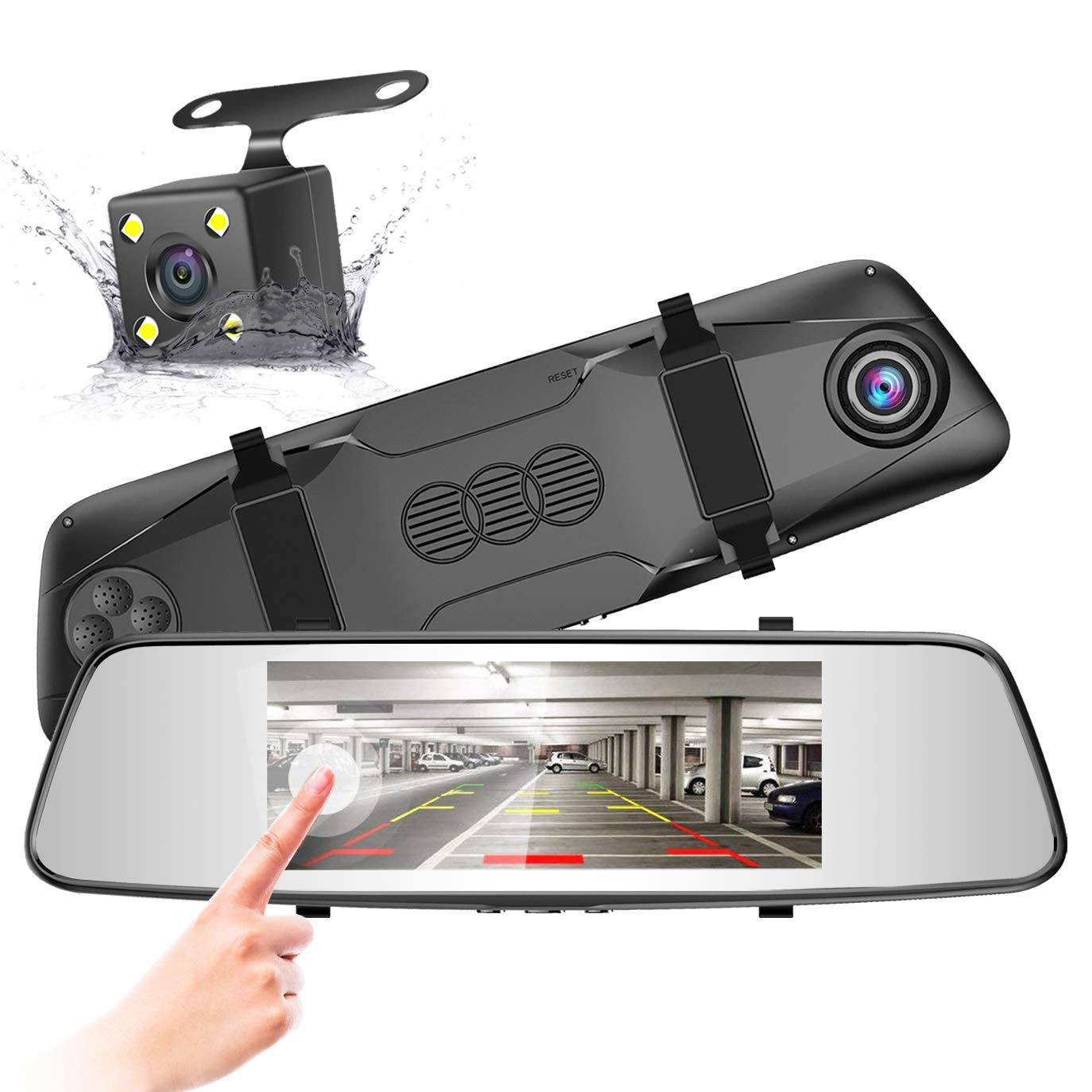 Pruveeo Touch Screen Rear View Camera