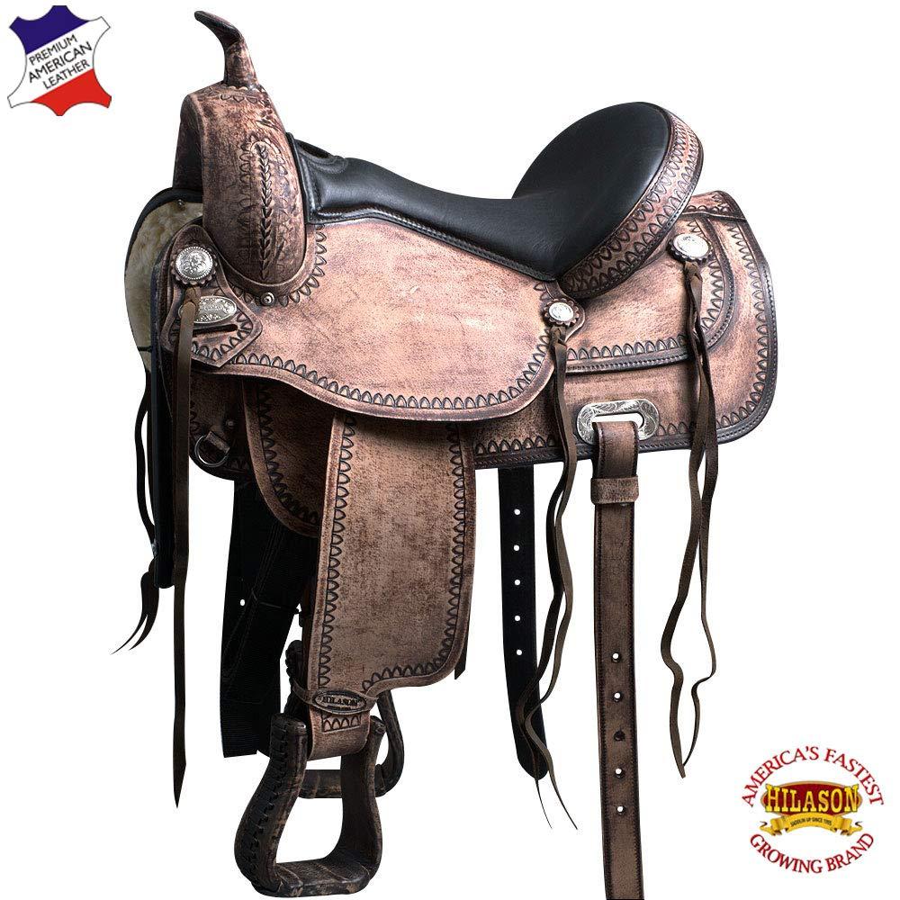 HILASON 15-inch Western Horse Saddle