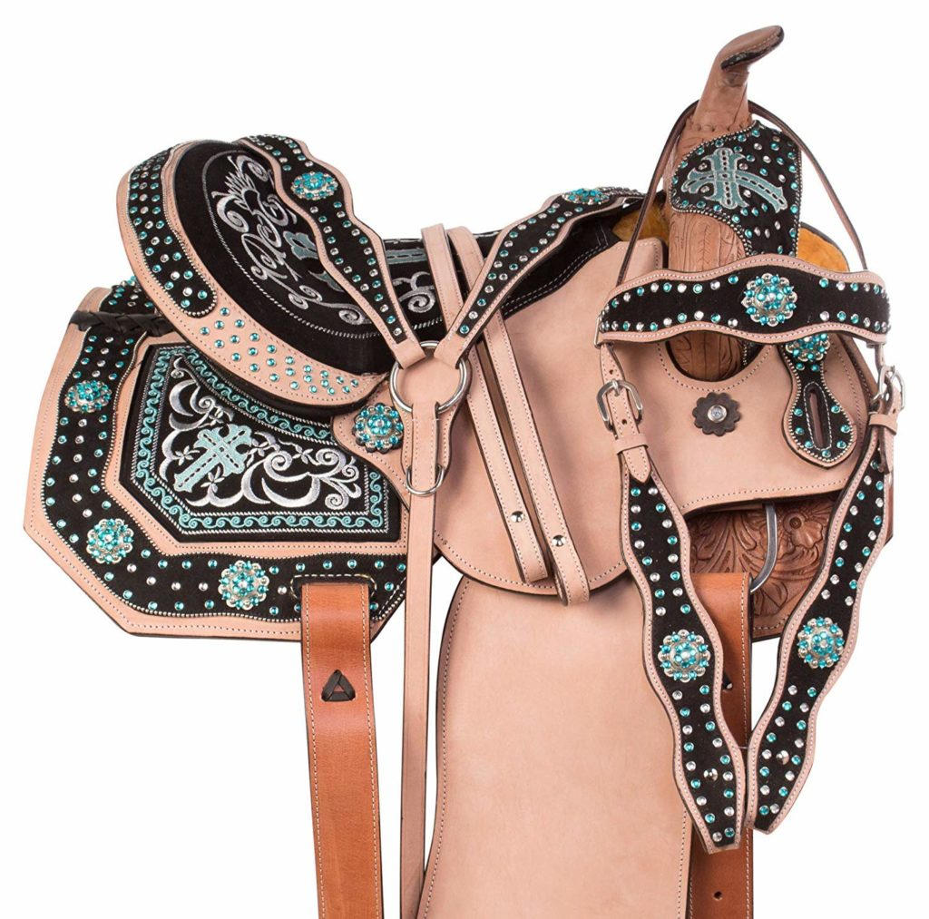Manaal Enterprises Premium Leather Western Horse Saddle