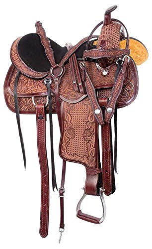 Open Store Western Pleasure Trail Horse Saddle